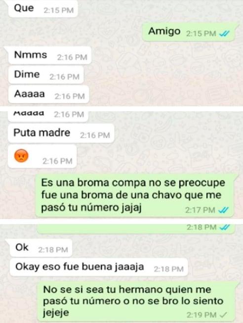 Charla en WhatsApp