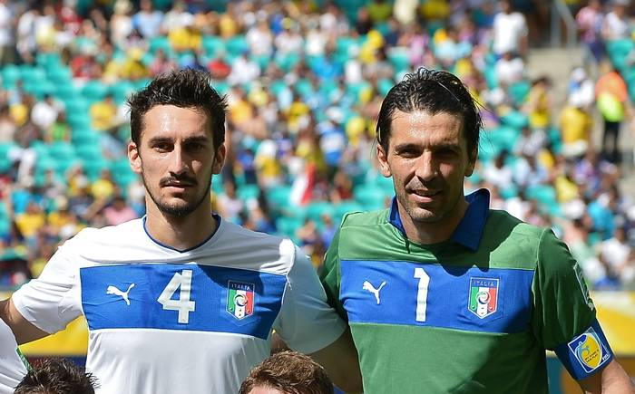 Davide Astori y Buffon