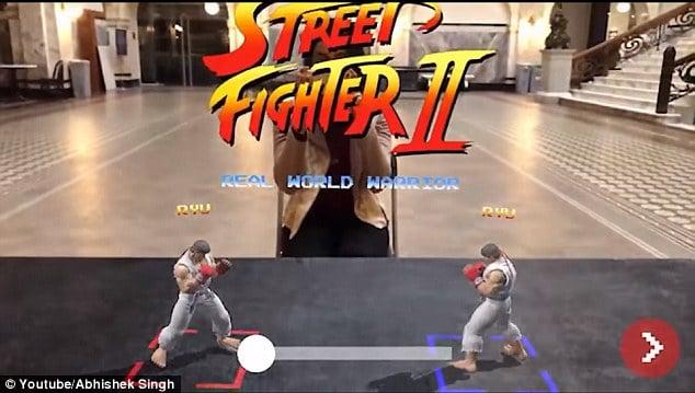 Street Fighter II en Realidad Aumentada