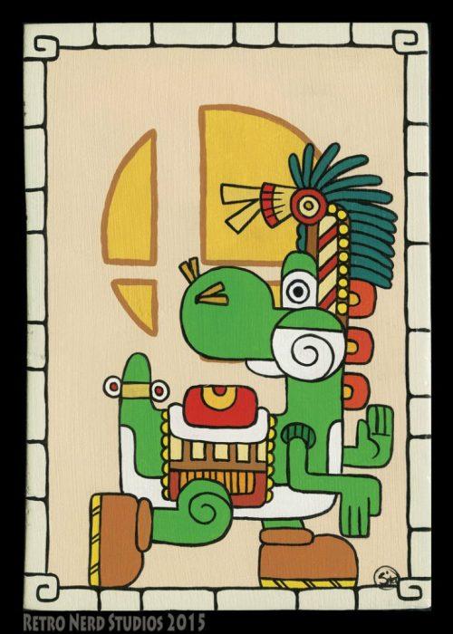 Personajes de Nintendo en estilo maya