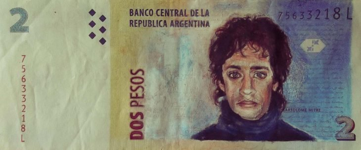 Billetes de 2 pesos en Argentina