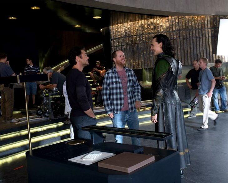 En el set de Los Vengadores