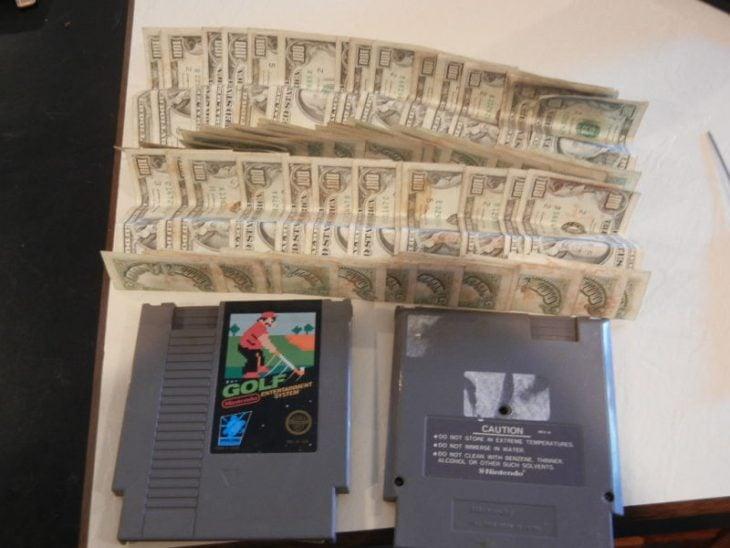 Billetes en cartuchos de Nintendo