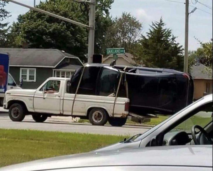 carro en camioneta