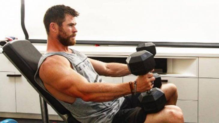 Thor en el gimnasio