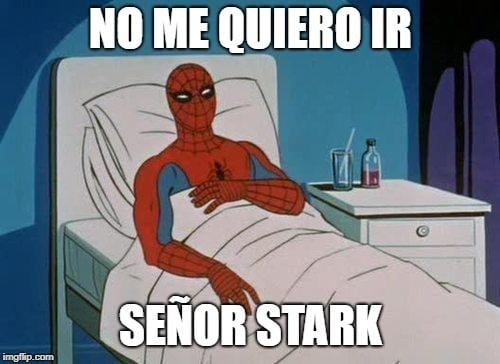 spiderman no me quiero ir meme