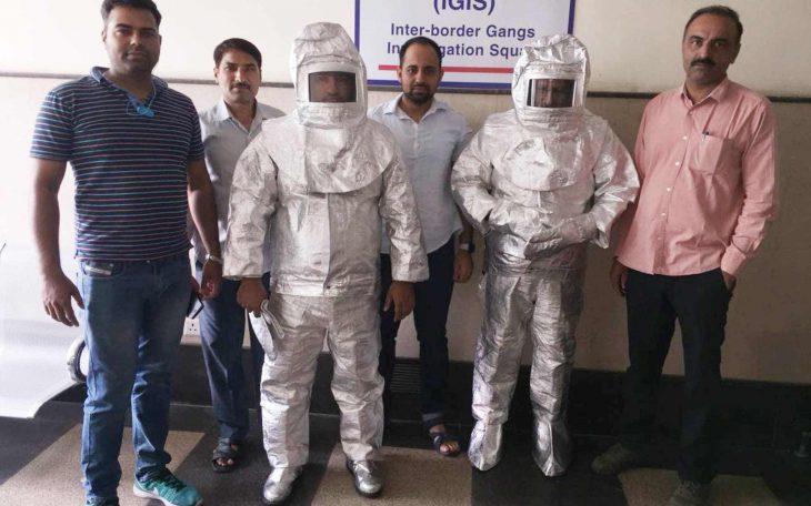 Se vestían de astronautas