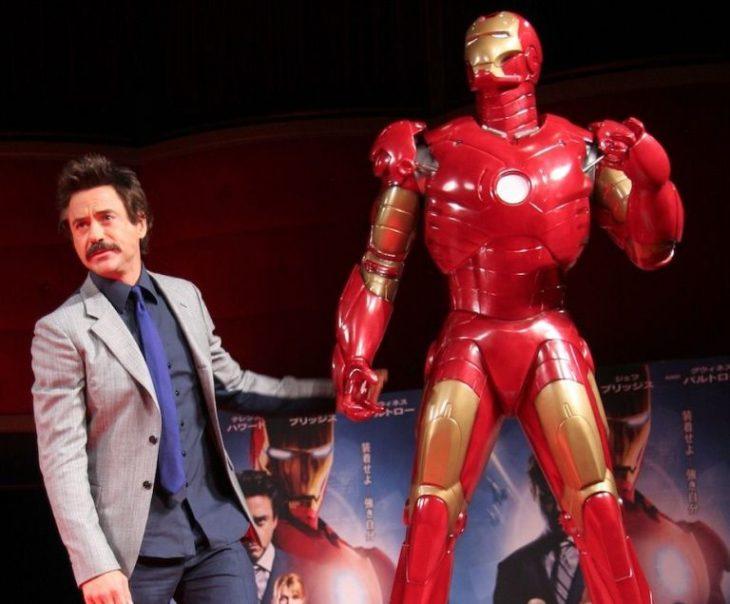 Robert Downey Jr y traje de Iron Man