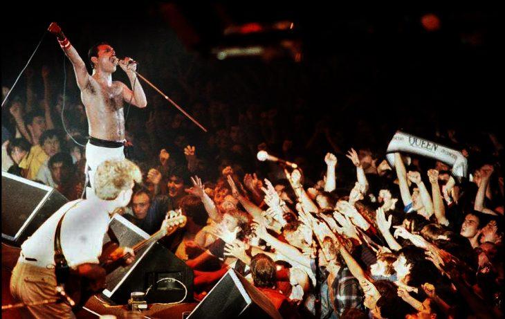 Freddy Mercury en concierto