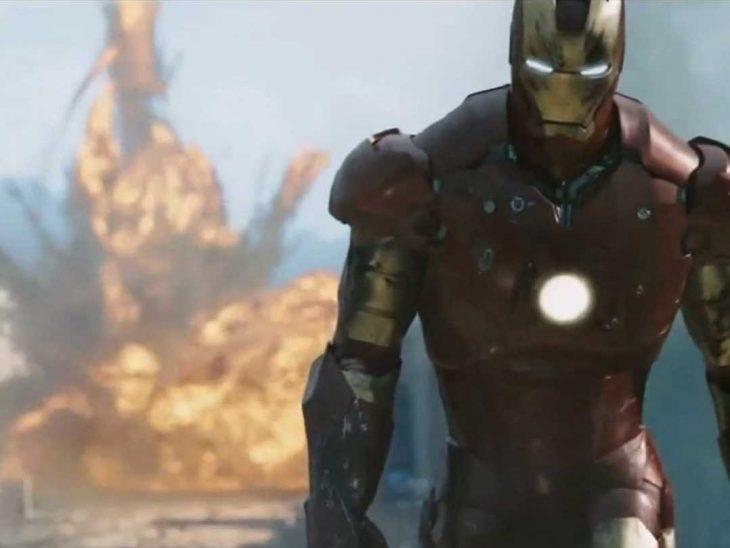 Iron Man en explosión