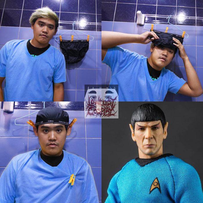 Cosplay bajo costo spock