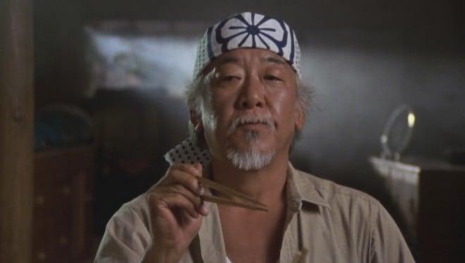 Pat Morita en Karate Kid