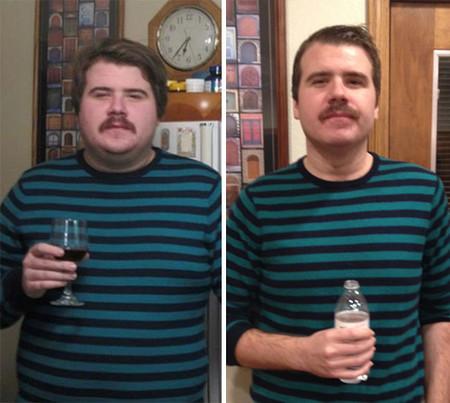 Antes y después de un alcohólico