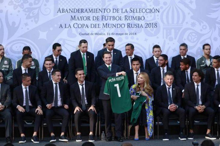 Peña Nieto con selección mexicana