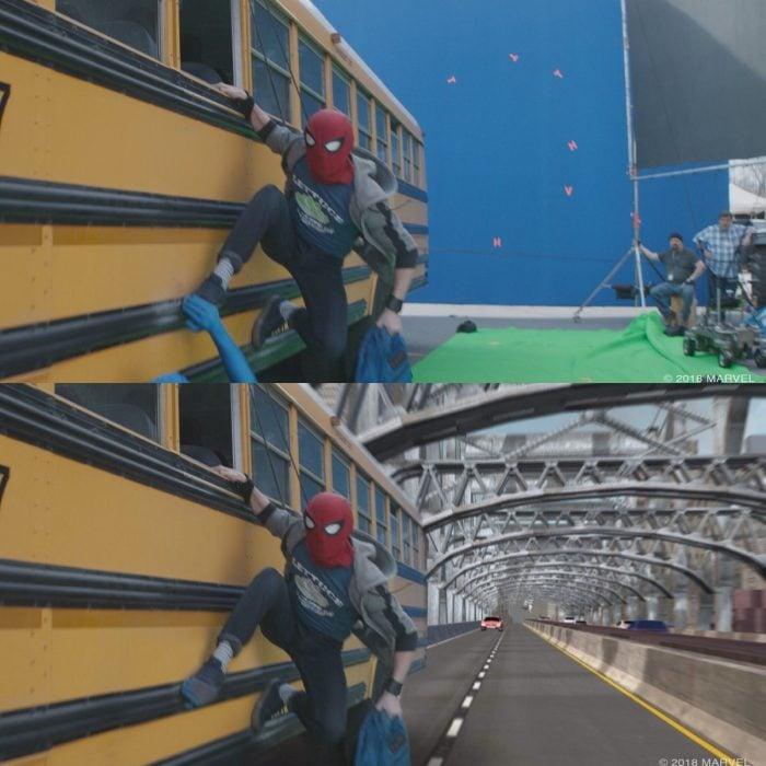 spider man escena