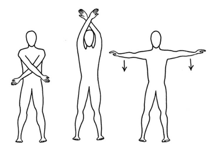 ilustración de estiramientos