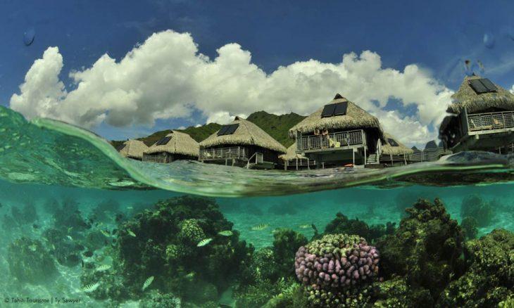 cabañas y coral