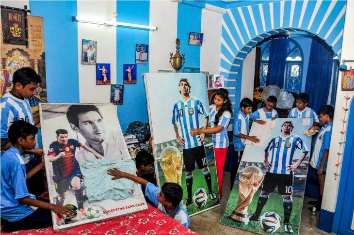 Fan de Argentina en la India
