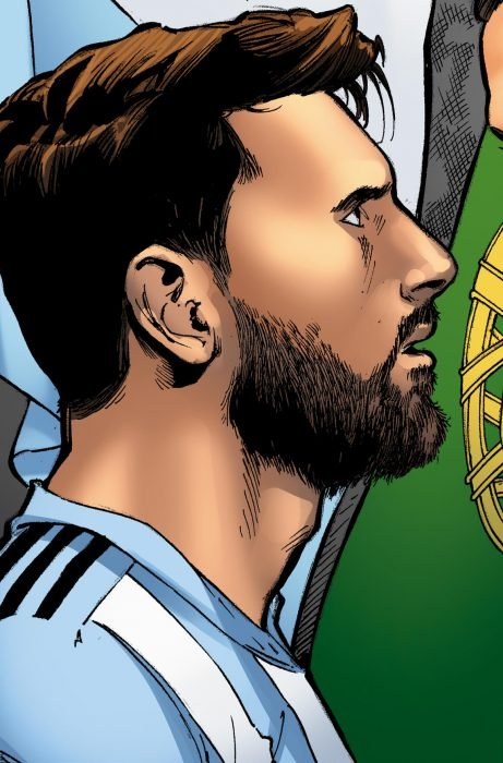 Lionel Messi en cómic de Marvel