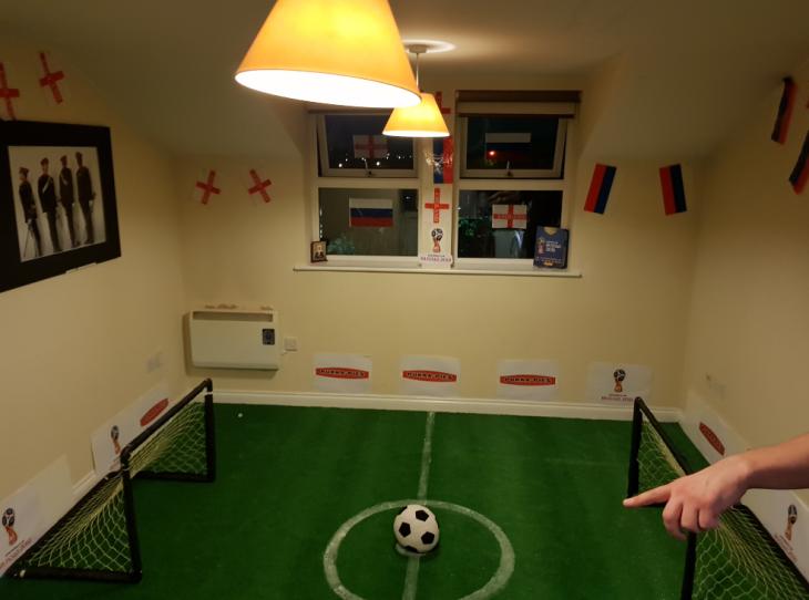 Campo de futbol en la sala