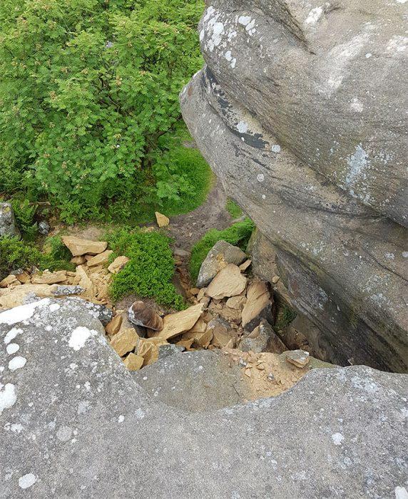 Rocas dañadas