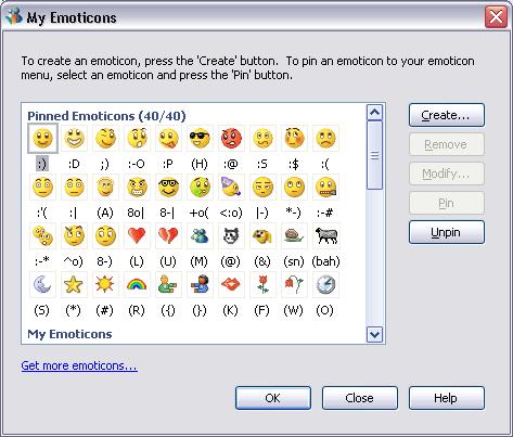 MSN emoticons