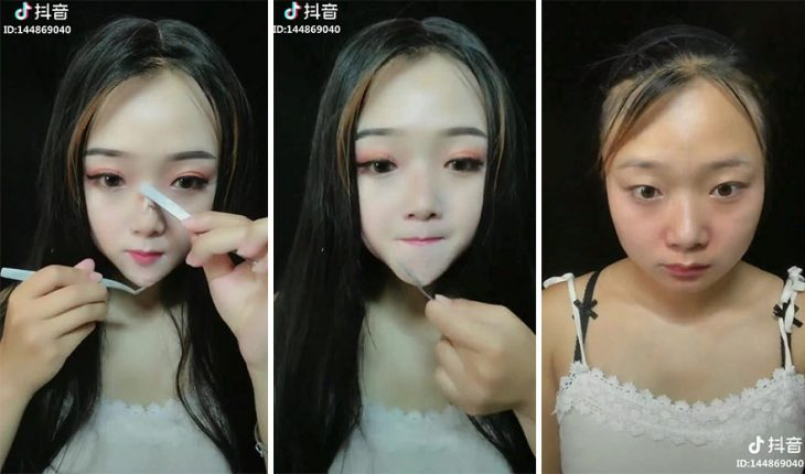 Chicas maquillaje falso