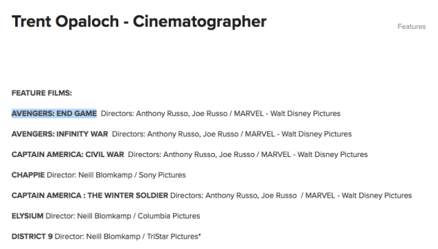 6a06ccd05b3a46af121e7b4fcfff7281 Filtran por error el nombre oficial de 'Avengers 4' y los diseños de los siguientes personajes