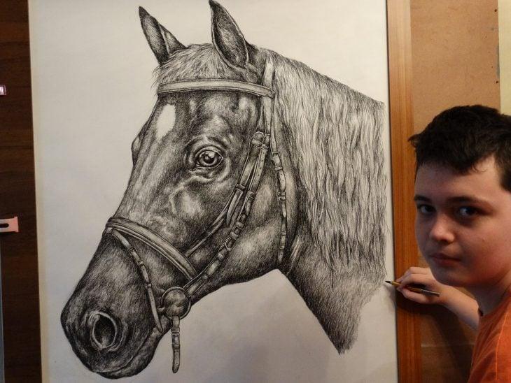 Dušan Krtolica dibujo caballo