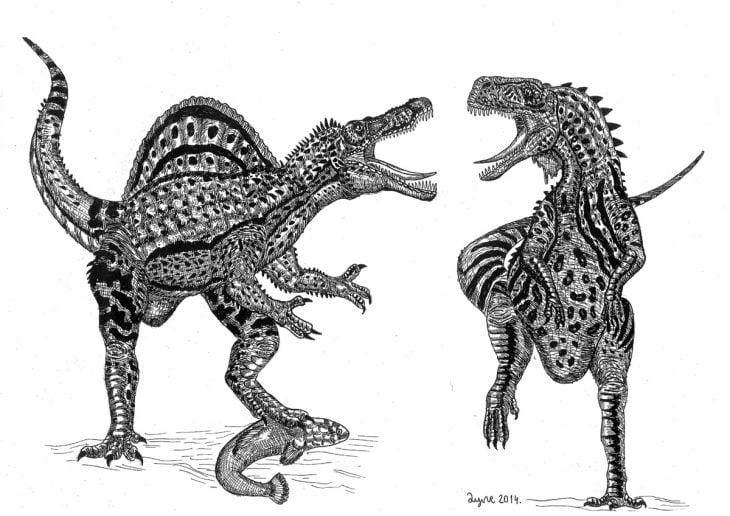 Dušan Krtolica dibujo dinosaurios
