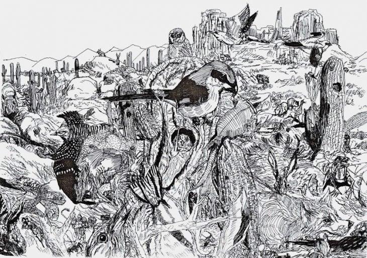 Dušan Krtolica dibujo selva