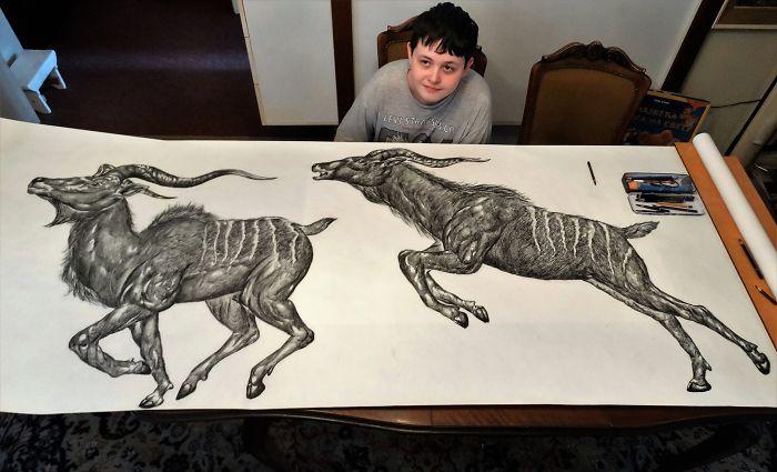 Dušan Krtolica dibujo dibujo antílopa