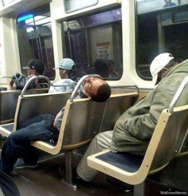 Cosas raras en el transporte público