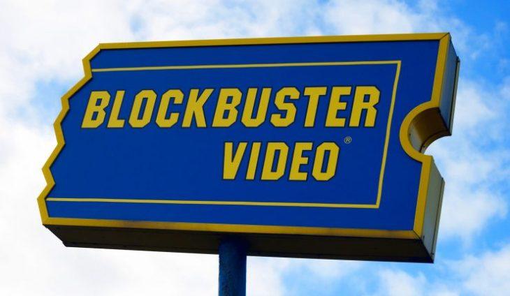 Letrero de Blockbuster