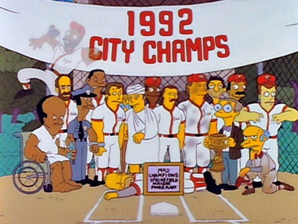 beisbol en los simpson