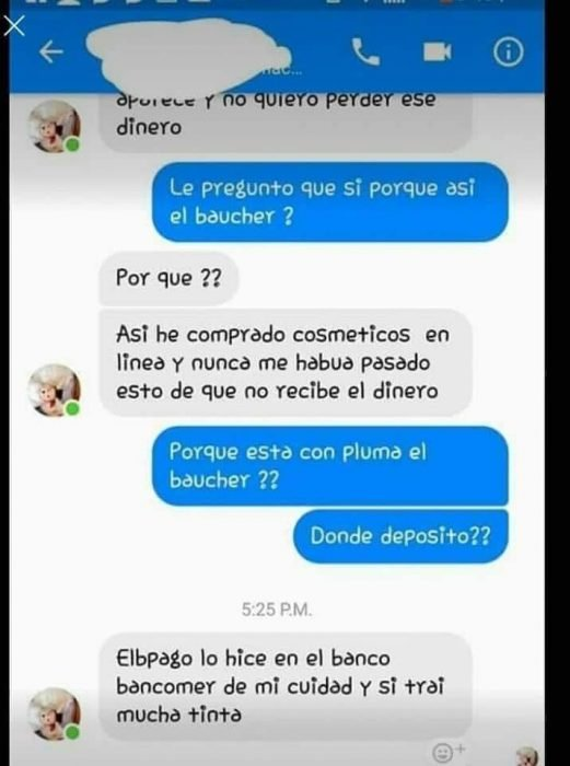 Estafa en Facebook
