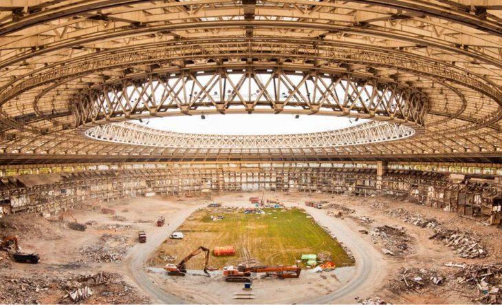 Estadio en construcción