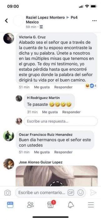 Comentarios en Facebook