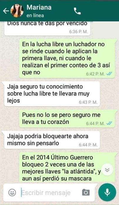 Conversación en WhatsApp
