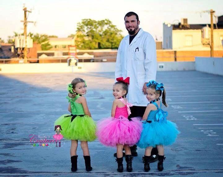 Disfraz padre-hijo chicas superpoderosas