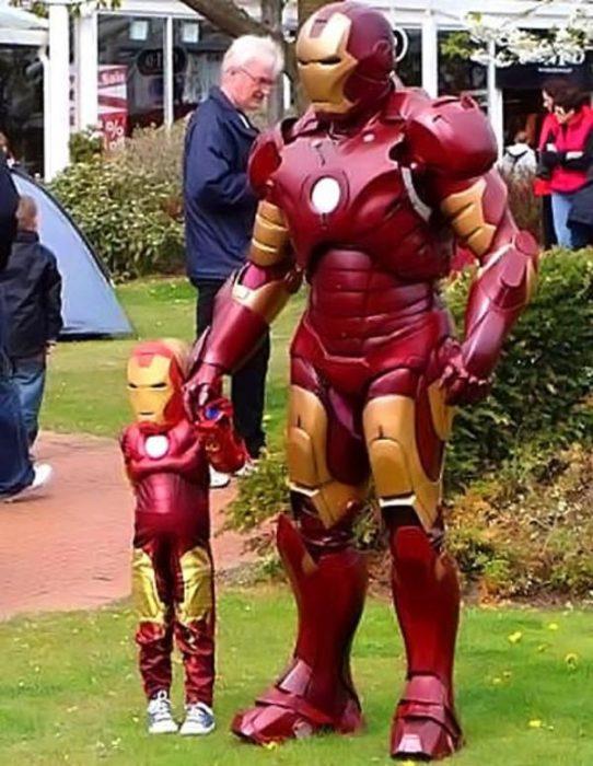 Disfraz padre-hijo stark