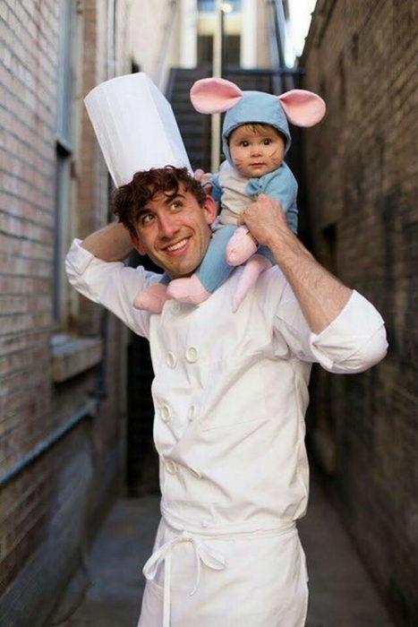 Disfraz padre-hijo ratattouille