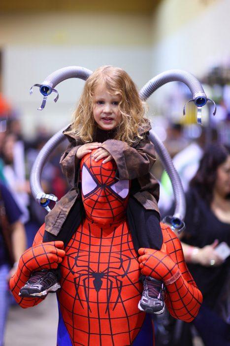 Disfraz padre-hijo spider-man