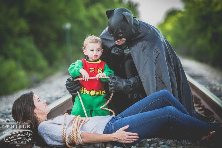 Disfraz padre-hijo batman y robin