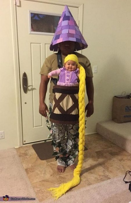 Disfraz padre-hijo rapunzel