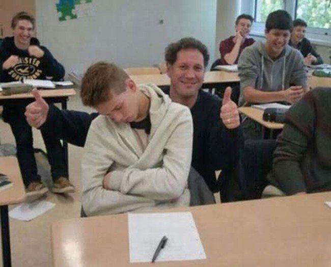 Profesores más divertidos dormido
