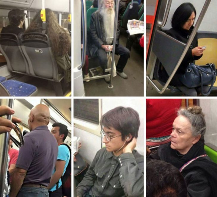 harry potter en el metro