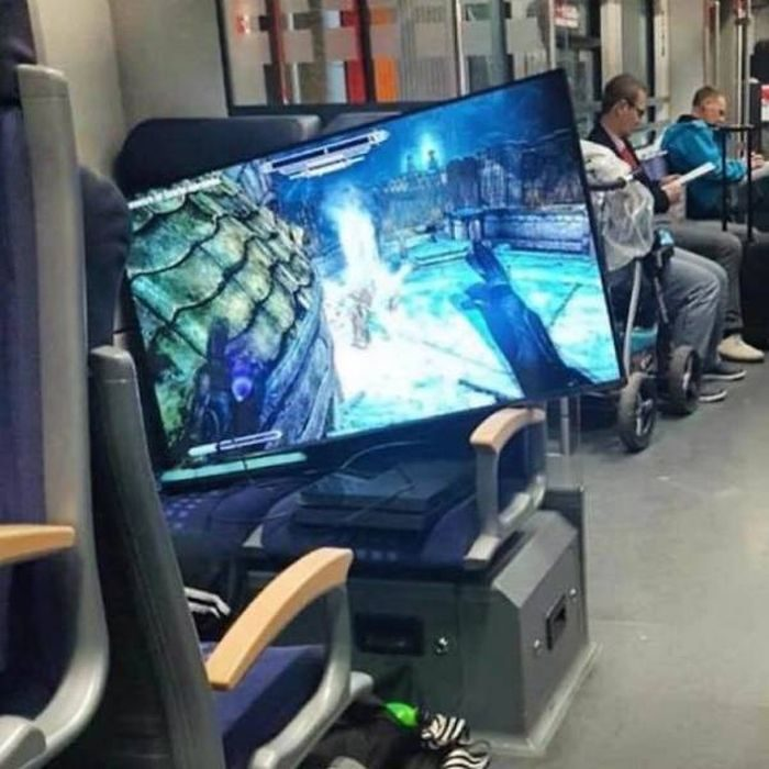 videojuegos en el metro