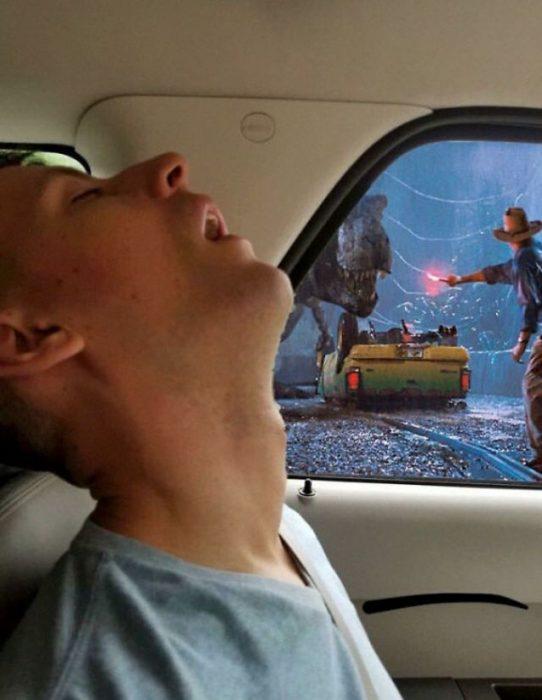 Hombre dormido batalla photoshop 4