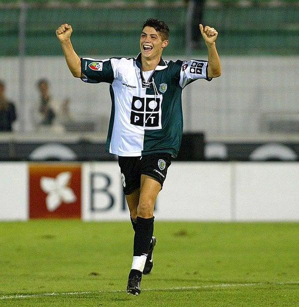 Crsitiano Ronaldo adolescente